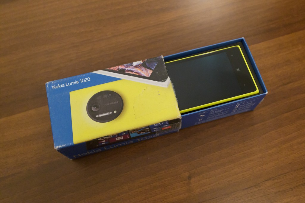 Lumia 1020, apertura packaging